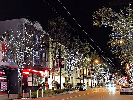 A Spring Night on Robson Street by Victor K