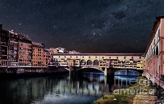 A Starry Starry Night in Florence, Italy by Maggie Magee Molino