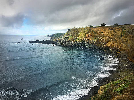 A Storm Brewing Over the Eastern Shoreline Cliffs of Angra do Heroismo Terceira by Kelly Hazel