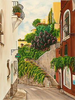 Charlotte Blanchard - A Street in Positano