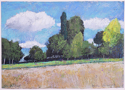 Martin Stankewitz - A summer day, rural landscape with trees