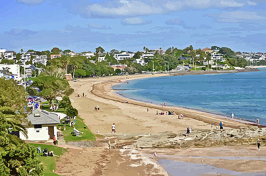 A Summer's Day In Saint Helier's Bay by Clive Littin