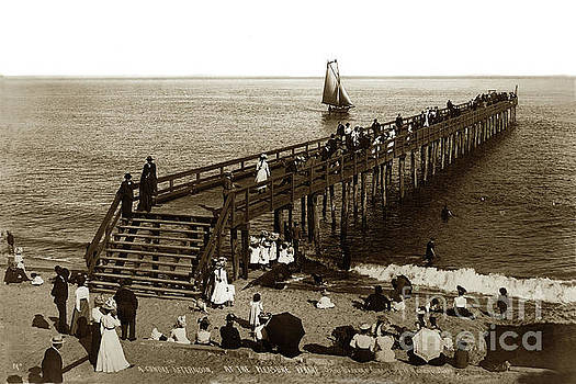 California Views Mr Pat Hathaway Archives - A Sunday Afternoon at the Pleaser Wharf Santa Barbara, Cal Circa 1900