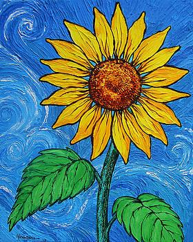 A Sunflower by Juan Alcantara
