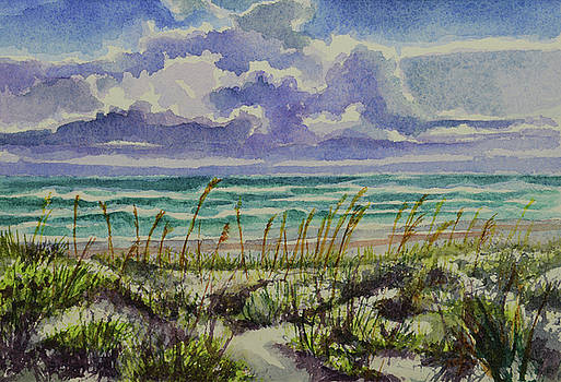 A sunny beautiful day at the beach by Julianne Felton