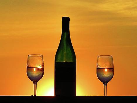 A sunset in each glass by Dennis McCarthy