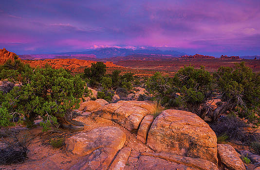 A Sunset Over Arches by John De Bord