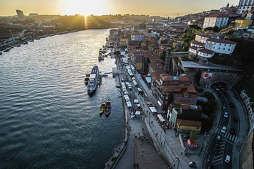 A sunset view of Porto, Portugal by Sven Brogren