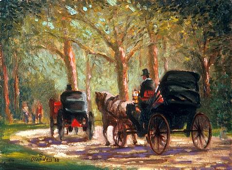 A Surrey Ride in Central Park by David Olander
