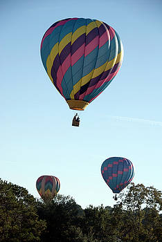 A Trio of Hot Air Balloons over Lakefair Farms by Frank Feliciano