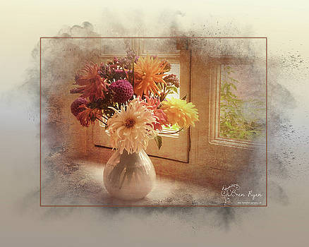 A vase full of flowers by Bren Ryan