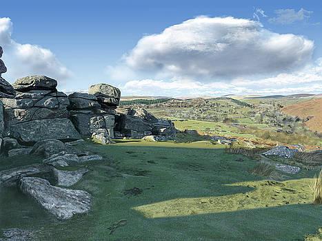 A View from Combestone Tor by Nigel Follett