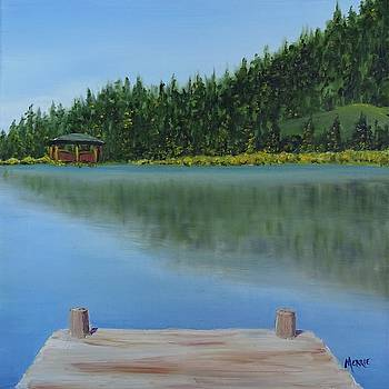 A View from the Dock by Merrie Kapron Taverna