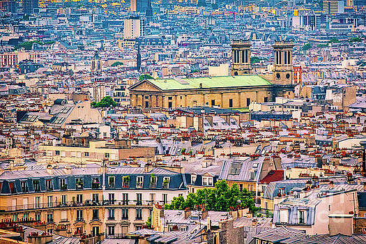 A View of Paris Rooftops by Katya Horner