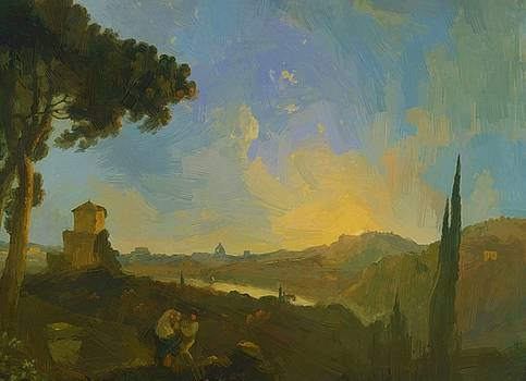 Wilson Richard - A View Of The Tiber With Rome In The Distance 1775
