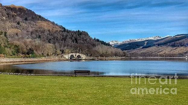 A View Over Loch Fyne at Inverary by Joan-Violet Stretch