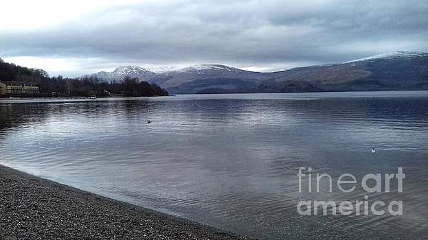 A View over Loch Lomond at Luss by Joan-Violet Stretch