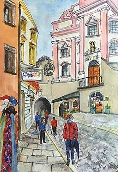A Walk in German Market by Cheryl Wallace