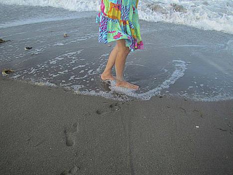 A Walk on the Beach by Richard Nickson