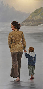 A Walk on the Beach by Tahirih Goffic