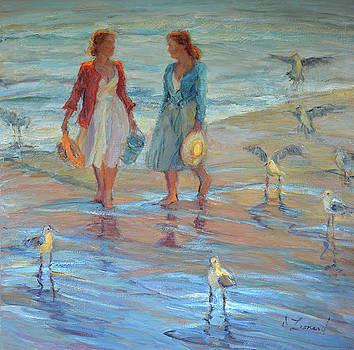 A Walk With The Seagulls by Diane Leonard