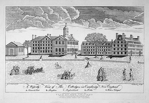 Ricky Barnard - A westerly view of the colleges in Cambridge New England 1916