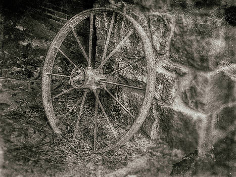A Wheel in a Building by Jeff Oates Photography