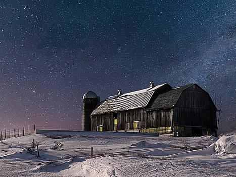 A Winter Night on the Farm by Judy Johnson