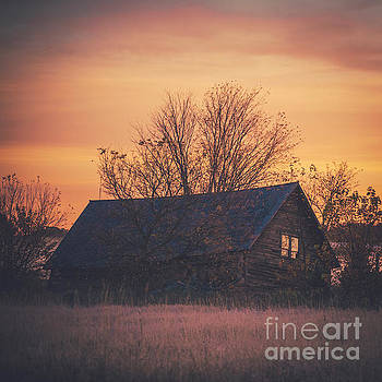 A Wisconsin Barn at Sunrise by Katya Horner