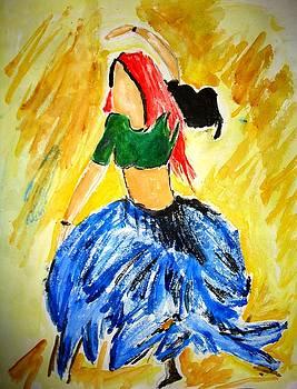 A woman dancing by Sonali Singh