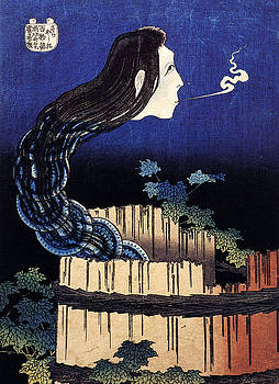 Katsushika Hokusai - A Woman Ghost Appeared From A Well