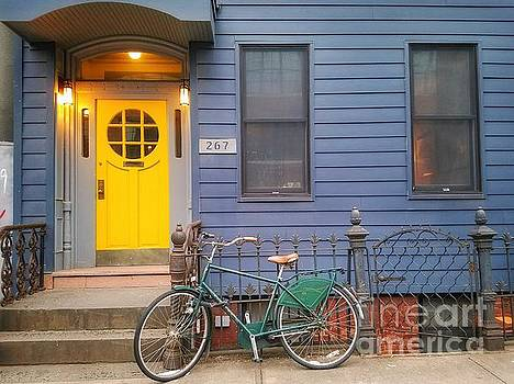 A Yellow Door in Brooklyn  by Mary Capriole