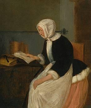 A Young Lady Reading by MotionAge Designs