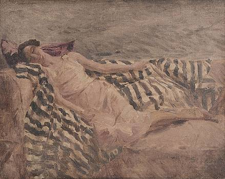 A young lady reclining on a sofa by MotionAge Designs