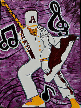 AAMU Drum Major by Christopher Farris