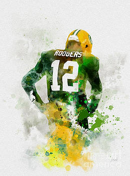 Aaron Rodgers by Rebecca Jenkins