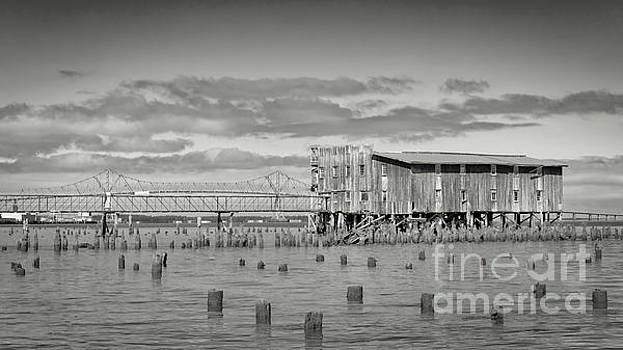 Abandon Cannery, Astoria bw by Jerry Fornarotto