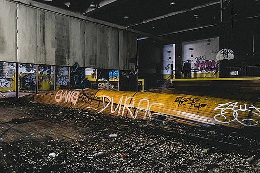 Abandoned Basketball Court Gymnasium by Dylan Murphy