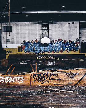 Abandoned Basketball Court In Old High School by Dylan Murphy