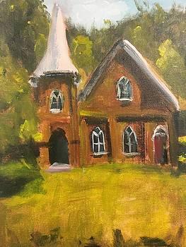 Abandoned Bear Creek Cumberland Presbyterian Church by Susan E Jones