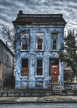 Abandoned Blue House - North St. Louis by Dylan Murphy