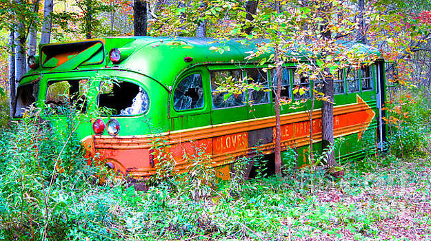 Abandoned Church Bus by Kathryn Barry