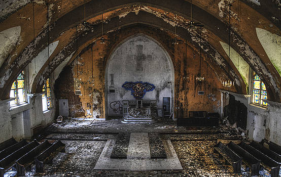 Abandoned Church Interior - North St. Louis City by Dylan Murphy