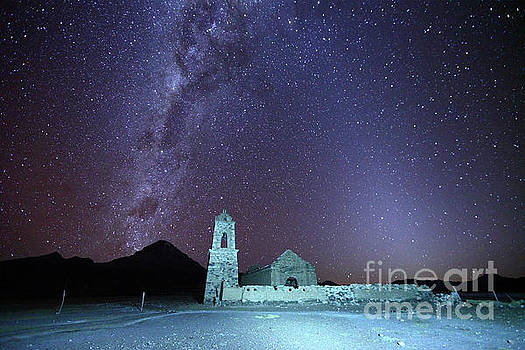 James Brunker - Abandoned Church Milky Way and Zodiacal Light Bolivia