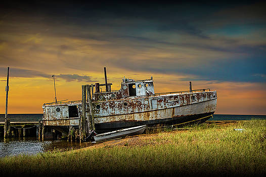 Randall Nyhof - Abandoned Fishing Boat on Lake Huron