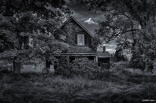 Abandoned Home in Lubec Maine bw version by Ken Morris