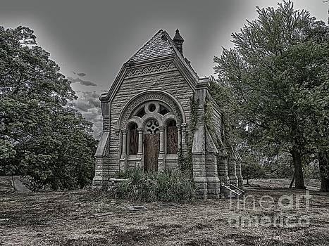 Abandoned Mausoleum by Charleen Treasures