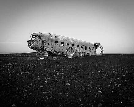 Abandoned Plane on Beach by James Udall
