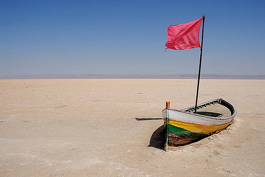 Sami Sarkis - Abandoned rowboat in dry salt lake