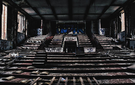 Abandoned School Auditorium. Saint Louis Abandonment. by Dylan Murphy
